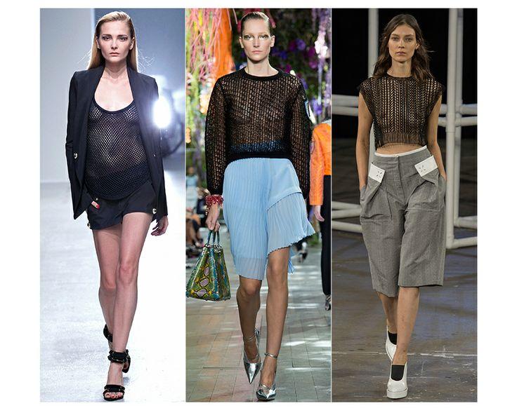 Résilles  Echo à la tendance sportswear, la résille se décline cette année sur des t-shirts loose, des crop-tops ou de gros pulls. Toujours ...