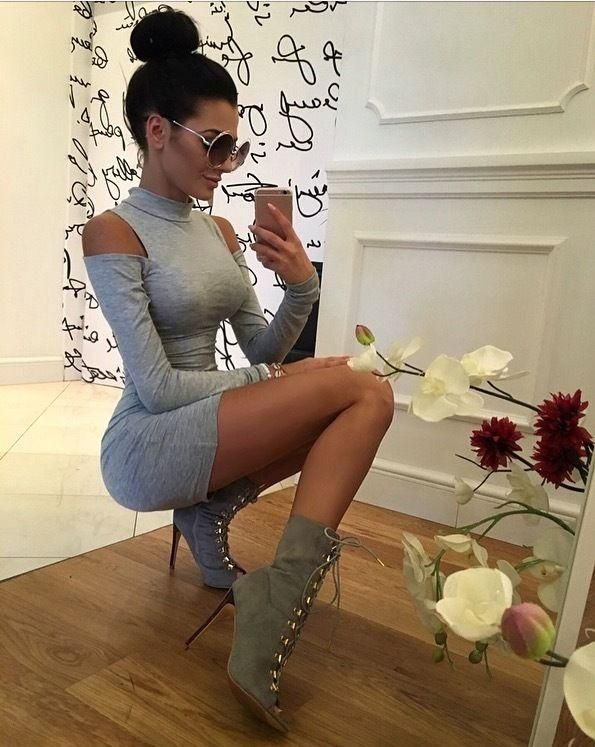 Women Long Sleeve Off Shoulder Bodycon Evening Cocktail