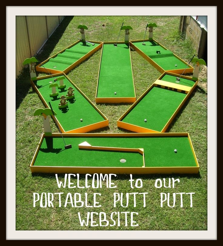 Homemade mini golf ideas great for all ages fun and for Outdoor christmas activities for adults
