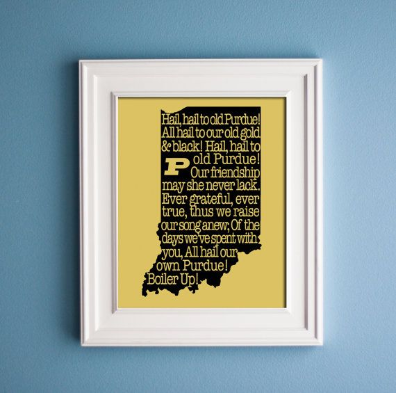 Purdue - Fight Song Print