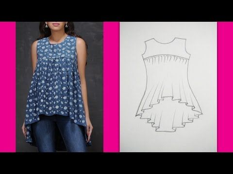 Gathered Yoke Neckline Top | How to make Designer Top (Part 1 - Cutting ) - YouTube