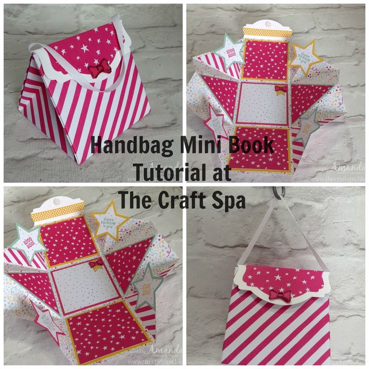 The Craft Spa - Stampin' Up! UK independent demonstrator : Handbag Mini Book Tutorial for Memory Making Monday