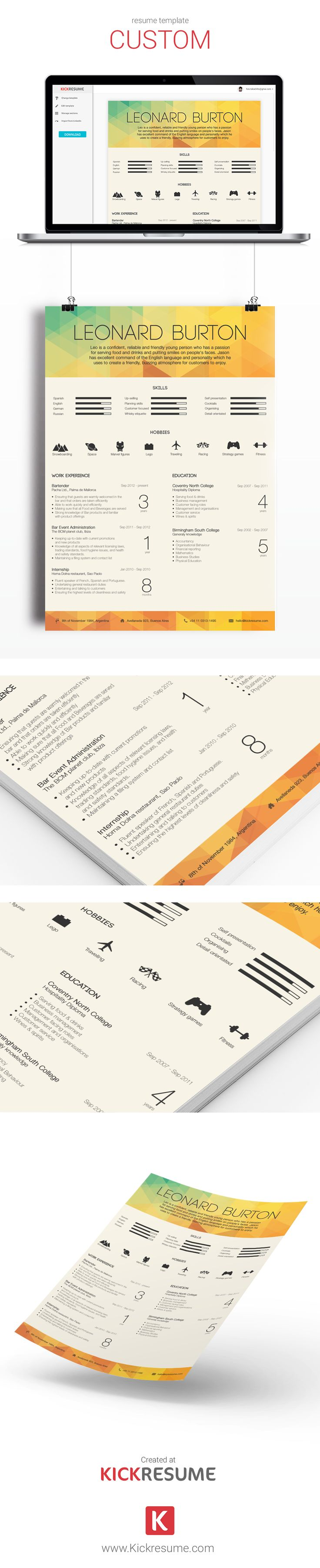 best ideas about sample resume templates resume choose one of our templates created by designers and approved by recruiters resume sample resume template resume design creative resume resume