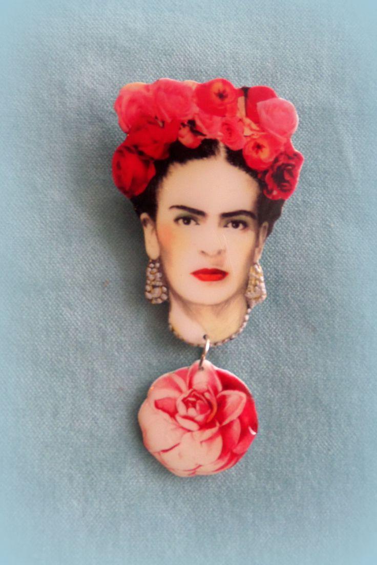 Frida Kahlo Brooch - Handmade by FridasCorner on Etsy