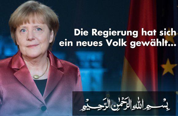 Der Austausch des deutschen Volkes.