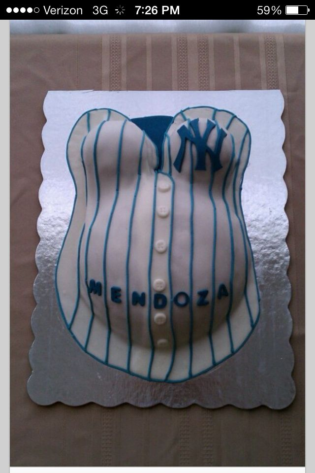 Yankees baby bump cake! Would be good for second baby if it's a boy