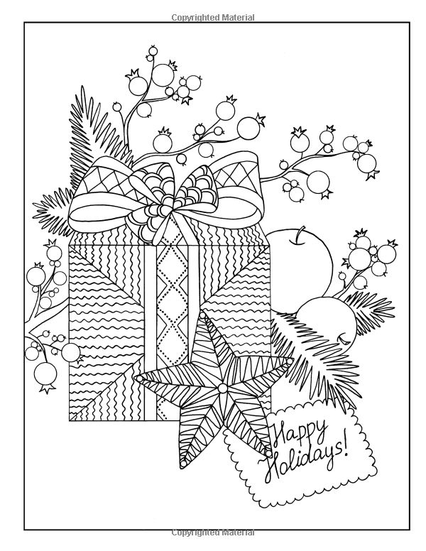 Wonderful Christmas Coloring Book For Adults Happy Stefania Miro 9781519468475 Amazon