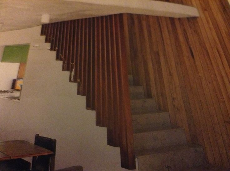 Stairs like the fact the slatted wall still allows light through.