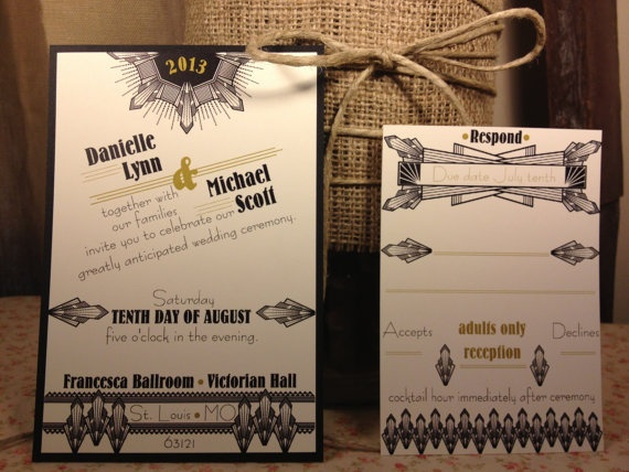 Great Gatsby Wedding Invitation: 17 Best Images About Invitations Great Gatsby On Pinterest