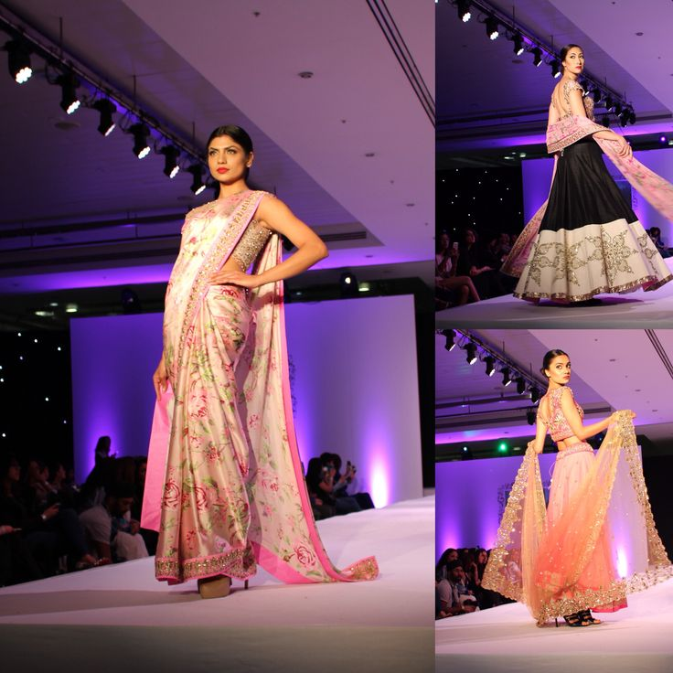 Floral saris are a must for Spring Summer next year. Check out these beauties from Anushree Reddy!
