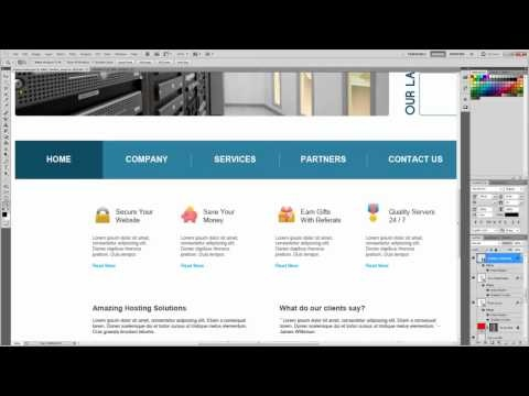 PSD to HTML to Wordpress Tutorial 2 - Slicing with Photoshop