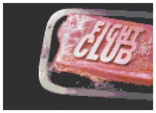 Fight Club Soap Cross Stitch Pattern