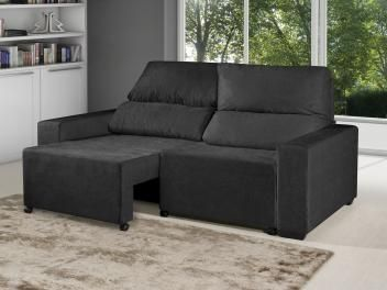 Sofá Retrátil Reclinável 3 Lugares Suede Elegance - American Comfort    R$ 699,90 em até 7x de R$ 99,99 sem juros no cartão de crédito