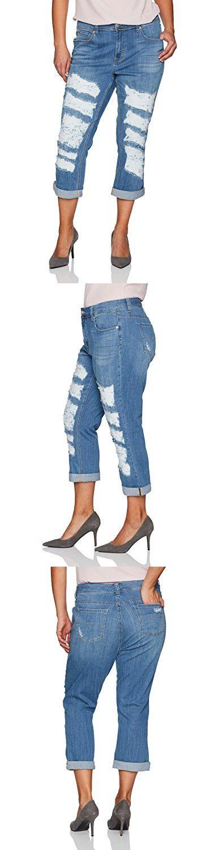 Melissa McCarthy Seven7 Women's Plus Size Cropped Girlfriend Jean, Congo, 26W