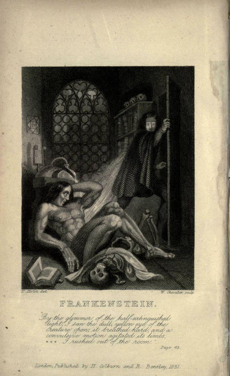 """Frankestein"" de Mary Shelley. Ficha elaborada por Abraham Herrero."