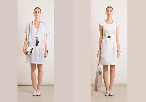 Hófehér ruhák, lezser és nőies elképzelésben.