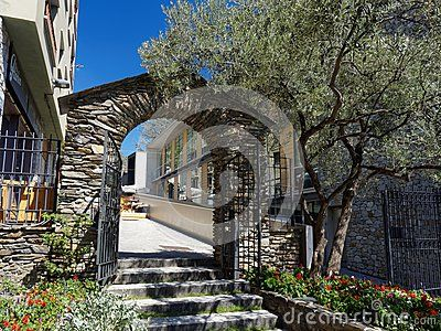 The antique gate in Andorra, country in Pyrenees