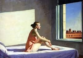 [8] Is she looking out the window? Or somewhere else? What has happened? Edward Hopper. http://maryemartintrilogies.com/?p=7297 #American #art