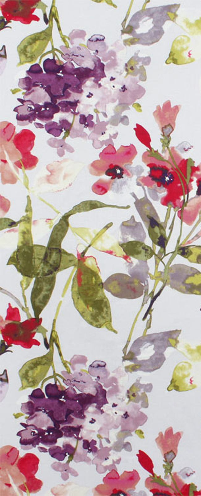 HGTV Color Study Berry floral Fabric $22.90 per yard