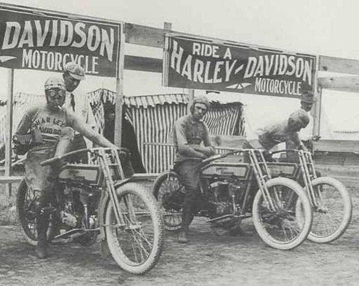 Harley Racing Team Vintage Photo