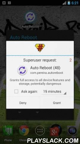 Auto Reboot (Root Only)  Android App - playslack.com , *Automatically reboot your device every day!*If you are like me, then you would have many apps on your device. Most of these apps continue to run in the background even if you stop using them.Ultimately the device becomes slower, consumes more battery and needs a reboot!Why reboot or restart your device manually when this app can do it automatically for you? Just set a time and you are all set! Choose either soft/fast reboot or full…