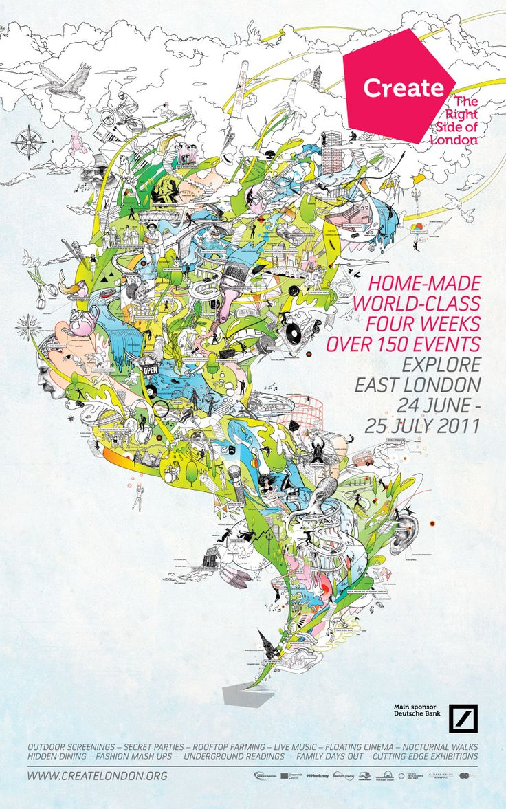 Create Festival London Poster. Bredenbekk