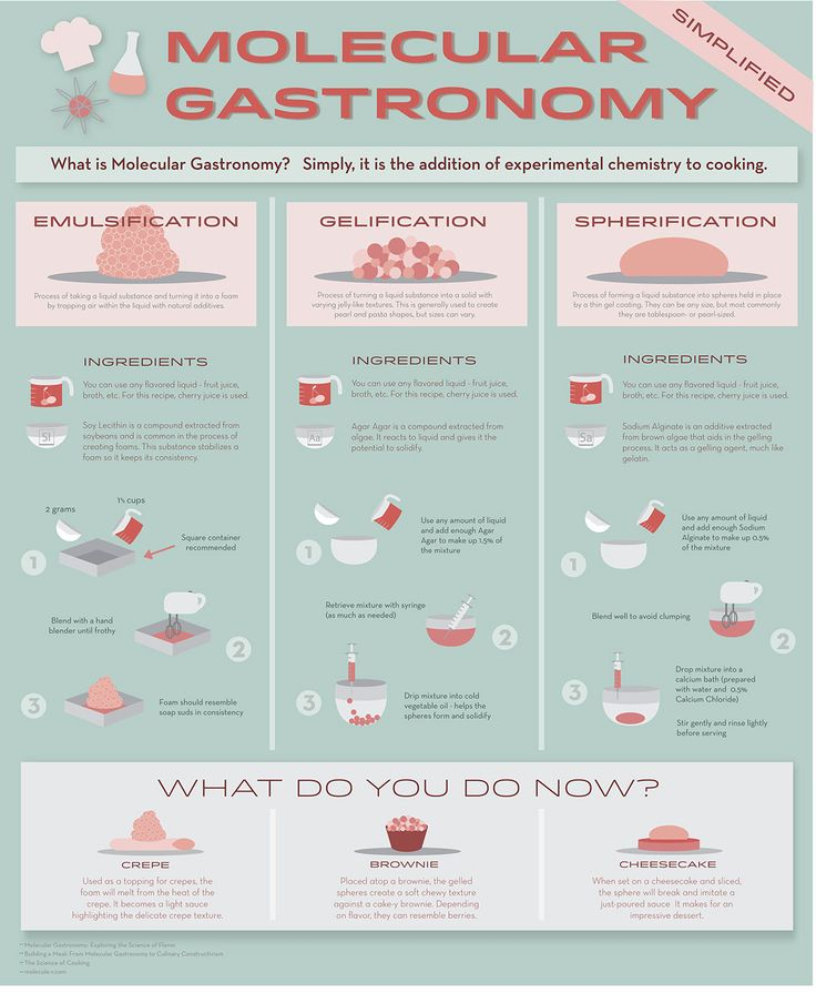 Molecular Gastronomy Infographic on Behance