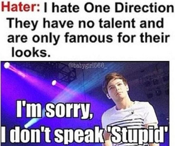 "I Have No Direction In Life Quotes: Louis Tomlinson ""I'm Sorry, I Don't Speak Stupid"