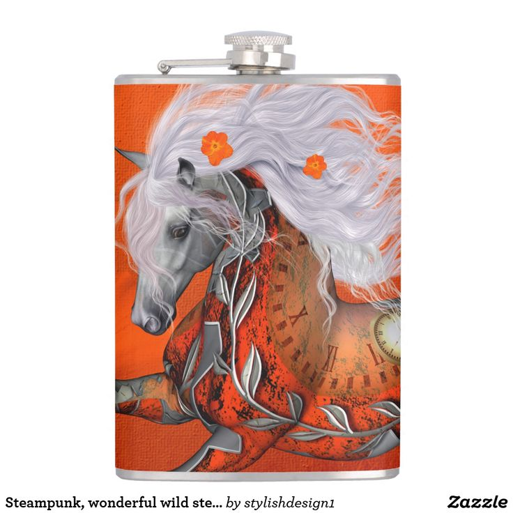 Steampunk, wonderful wild steampunk horse