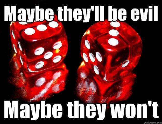 I can never decide if I like the liberating feeling of being told what to do by the dice, or if I dread the fact that they might decide to be evil today. Good luck today HEWmans! #encounteringladyluck #dicegames #goodorevildice #hardexerciseworks #hew