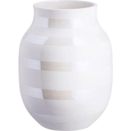 Kähler   Vase Hvid, Perlemor 20 cm - billede 1