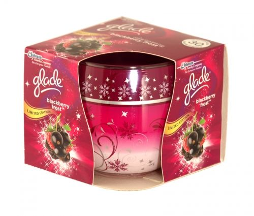 Glade blackberry frost scented candle 120g