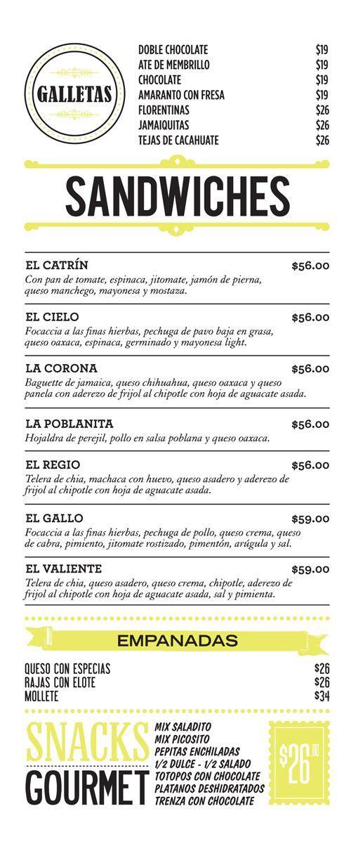 27 best dise o de cartas de restaurantes images on for Disenos de menus para cafeterias