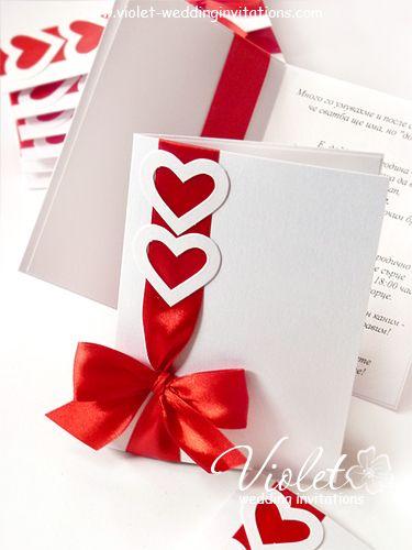 """Invitaciones de la boda """"Coquette"""", Violeta hecha a mano de la boda Invitaciones"""