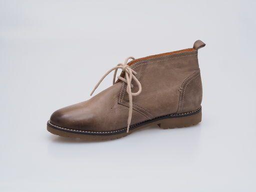 Hnedá dámska šnurovacia obuv