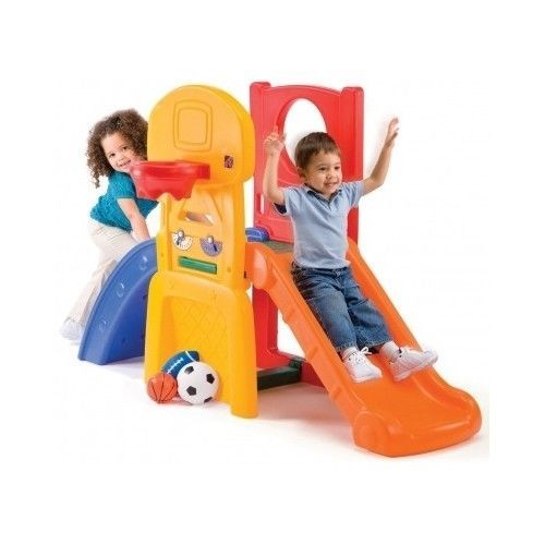 Fun-Kids-Climber-Playset-Slide-Childrens-Outdoor-Toys-Toddler-Play-House-Set-New