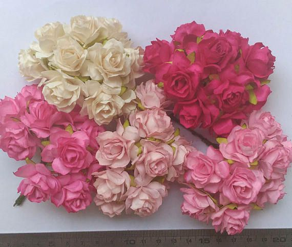 The 10 best mulberry roses paper flowers images on pinterest roses 50 mixed pink tone color big mulberry roses paper flowers size 3 cm 12inch wholesale bulk mightylinksfo