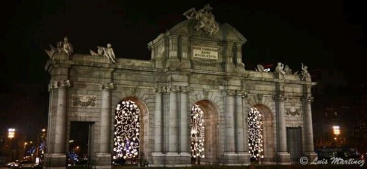La Puerta de Alcalá en navidad