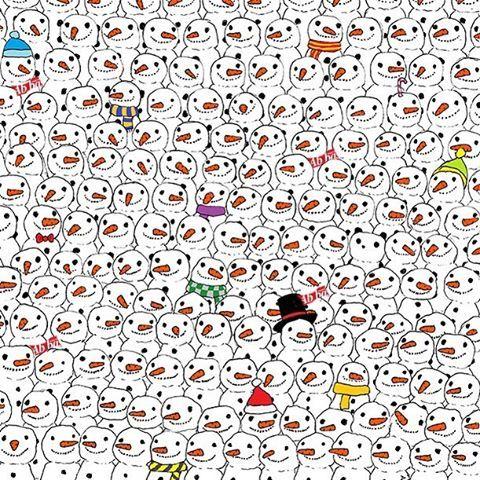 Önce pandayı, sonra da kaç kardan adama logomuzdan atkı yaptığımızı bulabilir misiniz?