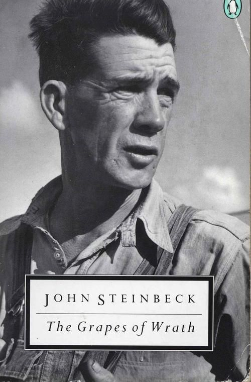 John Steinbeck, The Grapes of Wrath.  A book detailing the Great Depression's affect on an Oklahoma farmer that resonates with today's  economic woes
