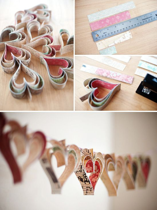 This is the prettiest garland - and so easy to make!