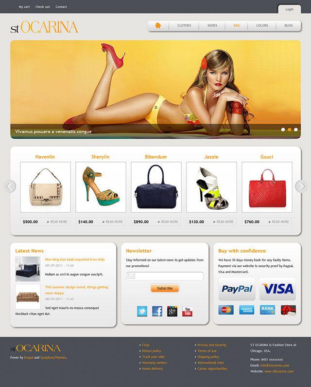 Drupal ecommerce theme.