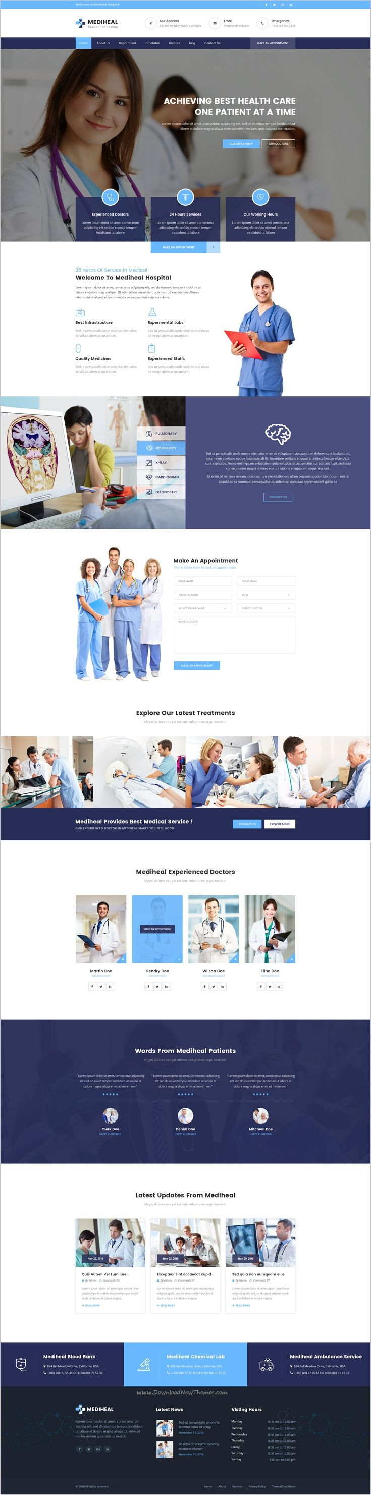 MediHeal is the best premium #PSD template for #medical and #hospitals website with 3 unique homepage layouts and 21 organized PSD pages download now➩ https://themeforest.net/item/mediheal-medical-hospital-psd-template/19056441?ref=Datasata
