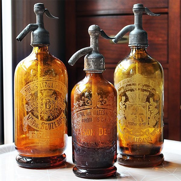 Vintage Siphons with stunning amber color! #LaBoutiqueVintage