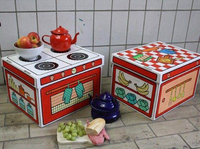 Plut t astucieuses ces boites de rangement peindre avec - Decoration boite en carton ...