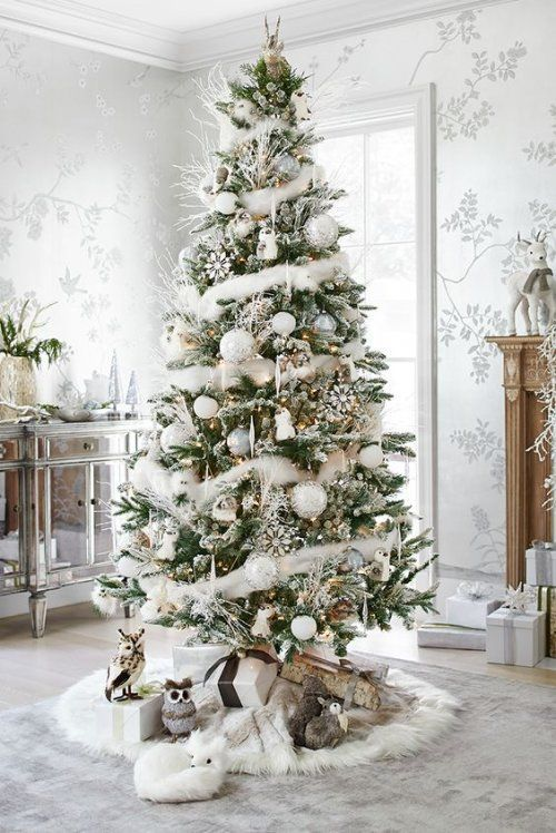 White Scandinavian Christmas Tree - Christmas Decor Ideas