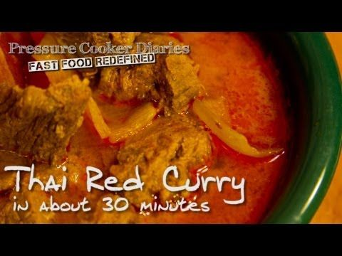 Thai Red Curry Recipe – Beef Red Curry Pressure Cooker Recipe