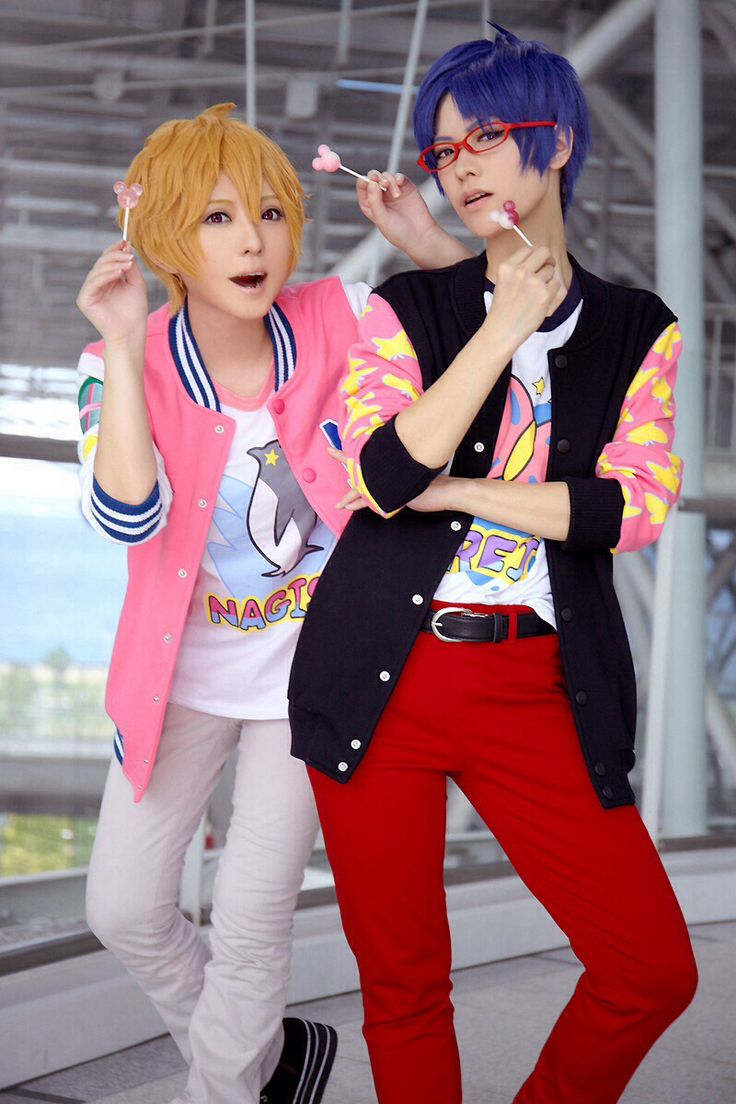 Awesome Nagisa Hazuki and Rei Ryugazaki cosplay from Free! Iwatobi Swim Club/Eternal Summer