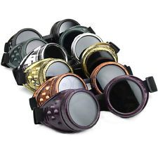New Vintage Victorian Gothic Cosplay Steampunk Goggles Glasses Welding Punk