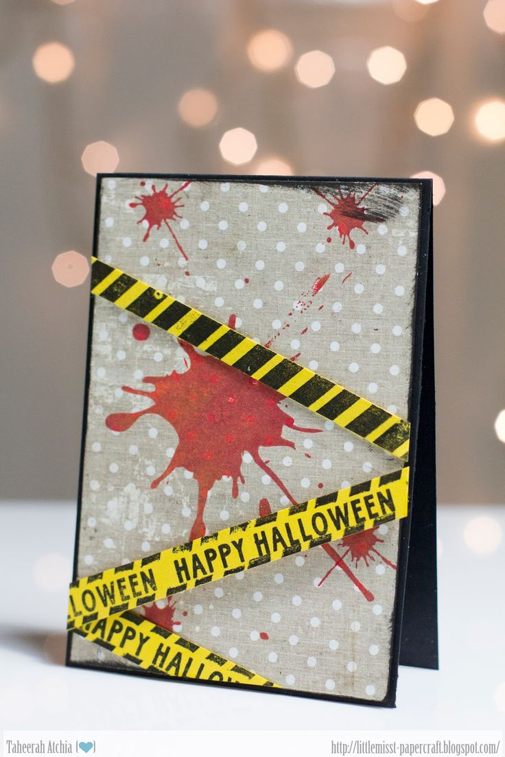 Neat and Tangled: Caution: Halloween! Featuring Ink Splash, On The Strip and Creepy Cute